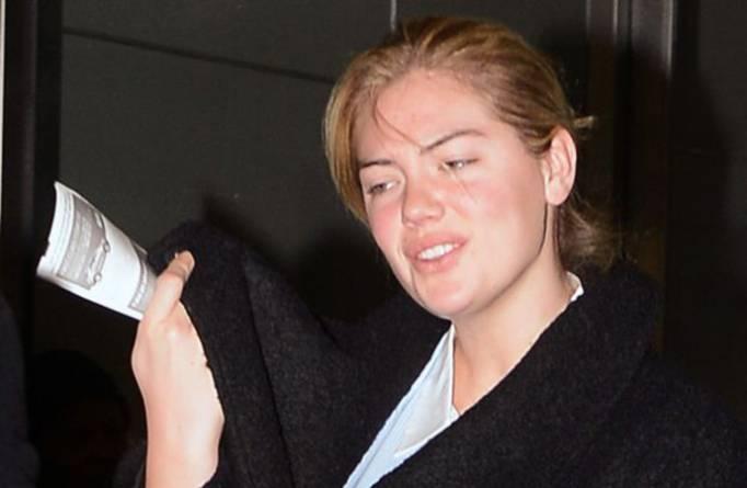 INF - Kate Upton arrives at JFK International Airport