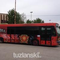 GiPS Tuzla brendirao autobus u znak podrške FK Slobodi (FOTO)