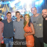 Na koncertu Dine Merlina uživali i košarkaški reprezentativci BiH (FOTO)