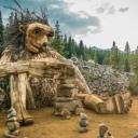 Magija u šumama Kopenhagena: Divovske drvene skulpture izrađene od recikliranog drveta (FOTO)