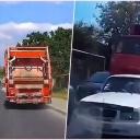 Nesvakidašnja nesreća: Kamionu za odvoz smeća otkazale kočnice na nizbrdici u naselju