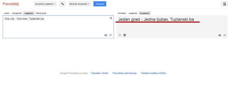 Google Translate Dodao I Bosanski Jezik Na Listu Tuzlanskiba