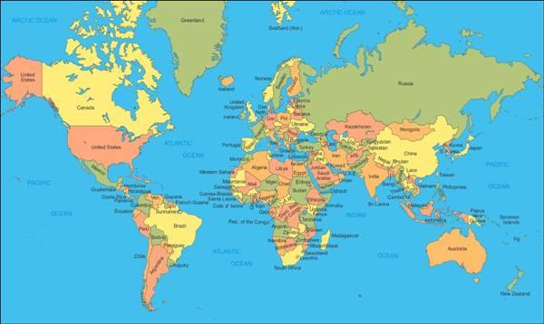 karta sveta sa drzavama Svijet: Na jezicima bivše SFRJ priča preko 30 miliona ljudi  karta sveta sa drzavama