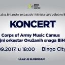 U Tuzli večeras koncert vojnih orkestara Ujedinjenog Kraljevstva & BiH