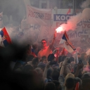 Počeo veliki skup u Beogradu: 100.000 ljudi na mitingu SNS-a