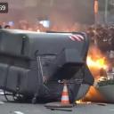 Neredi u Barceloni: Gori vatra, čuju se sirene, protestanti se tuku s policijom