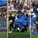Nesvakidašnji prizor: Padobranac prekinuo susret između Sassuola i Intera