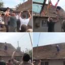 Svadba u Srbiji postala viralni hit: Kuma se popela na krov, trubači sviraju, a ona lomi crjepove