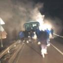 U povratku iz Mostara: U blizini Kladnja planuo autobus FK 'Radnik'